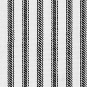 White & Black Ticking Stripes