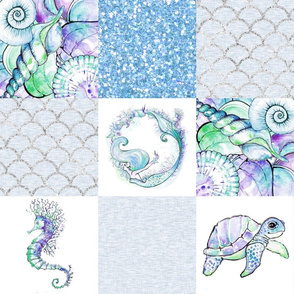 under the sea quilt - blue