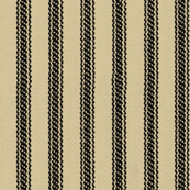 Tan  & Black Ticking Stripes