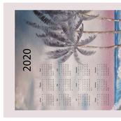 2020 Windy Beach Calendar