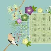2020 Winter Flowers Calendar