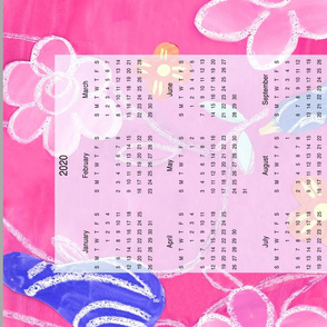 pears and flowers calendar