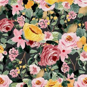 Tara Floral Gray