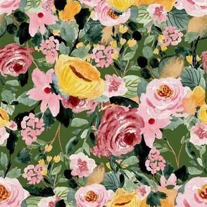 Tara Floral Green