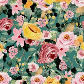 Tara Floral Teal