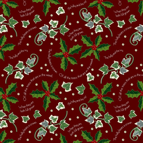 Holly and The Ivy on Rosewood Red