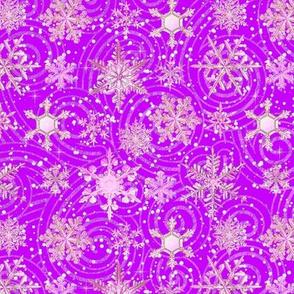 Fancy Purple  Pink Snowflakes