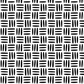 Textile Weave Black on White