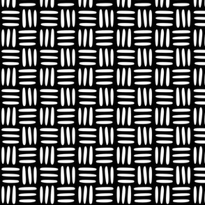 Textile Weave White on Black