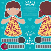 Cut and Sew doll - Grace