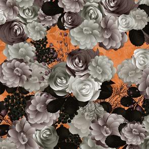 wedding floral on orange