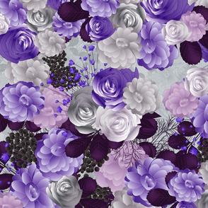 winter flowers in purple