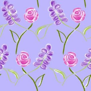 Simple Flower Lattice Lavender