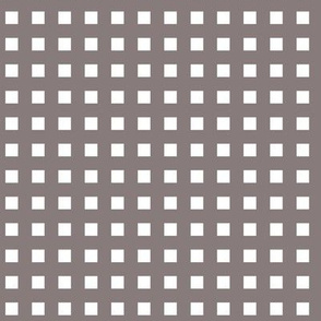 Square Grid Plaid (Small) // Warm Grey