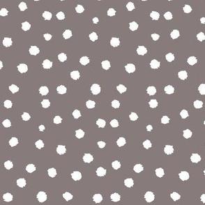 Painted Polka Dot // Warm Grey