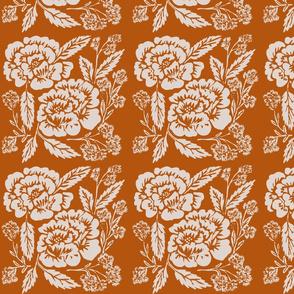 pumpkin and cream floral-ch