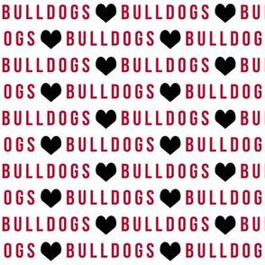 bulldogs fabric - georgia bulldogs, sports, college, football, college sports, american football - red and black