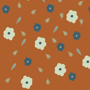 Rust Falling Florals
