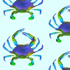 Blue Crab on Aqua Blue