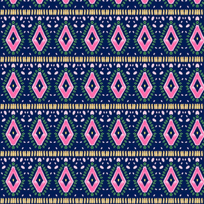 folk art - tropics  - pink diamond SMALL233