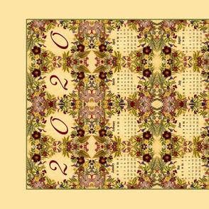 2020 Tuscan Tea Calendar Towel