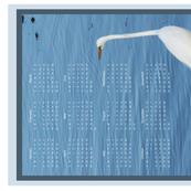 2020 white heron tea towel