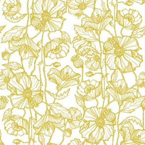 Petite Mustard Poppies