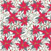 Poinsettia winter floral