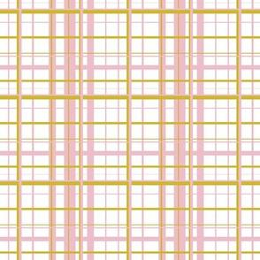 Pink & Mustard Plaid