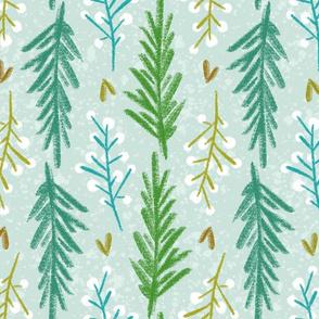 Winterberry & Pine - Blues