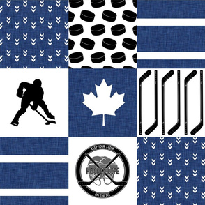 Hockey//Keep your stick on the ice//Toronto - Wholecloth Cheater Quilt