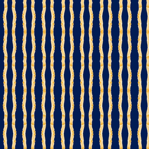 fringy stripes - sunset navy - small 117