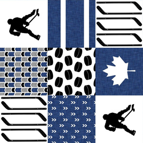 Hockey//Keep your stick on the ice//toronto - Wholecloth Cheater Quilt - Rotated