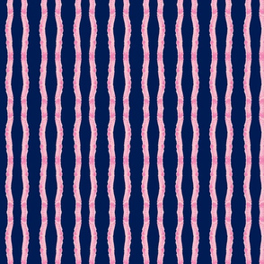 fringy stripes - pink navy - small 117