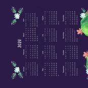 Prickly Pear Cactus 2020 Tea Towel Calendar