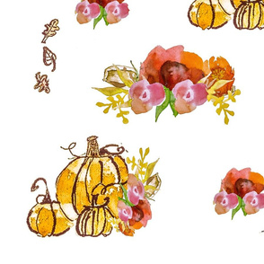 Autumn Floral Pumpkin Patch