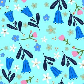 Pretty Petals on Aqua
