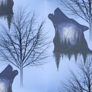 Winter wolf forest