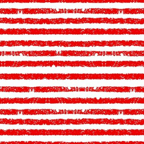 Red Grungy Pirate Stripes - Small