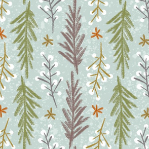 Winterberry & Pine - Muted Color Palette