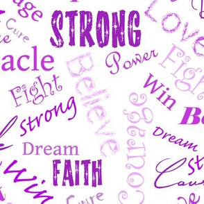 large scale - Cure Hope Words -purple