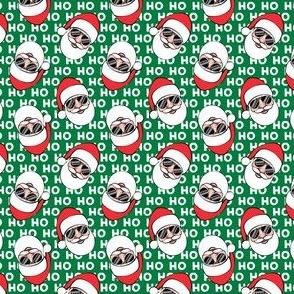 "(1"" scale) Santa Claus w/ sunnies - HO HO HO green toss - Christmas C19BS"
