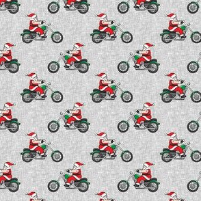 (small scale) Chopper (motorcycle) Sleeveless Santa - grey  - LAD19BS