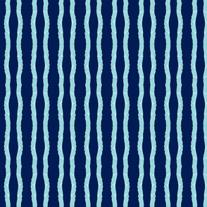 fringy stripes - mint navy - small 117