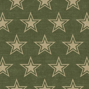 Stars - Green and tan - C19BS