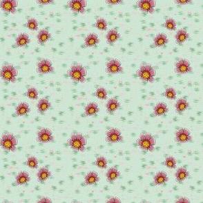 Flower in red, M054