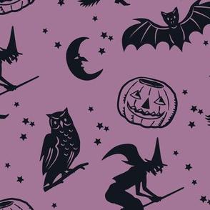 Bats and Jacks ~ Dusty Purple