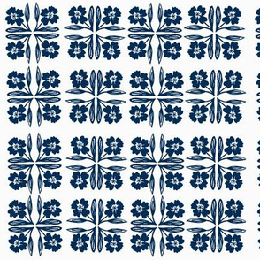 navy floral squares