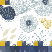 6in1_Fat Quarter Swatch - White Spring Floral