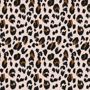 Leopard - black brown on blush